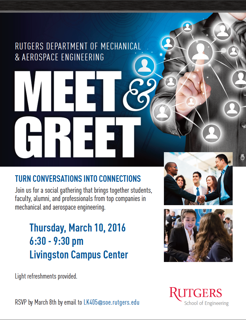 Meet And Greet Student Industry Event Rutgers University