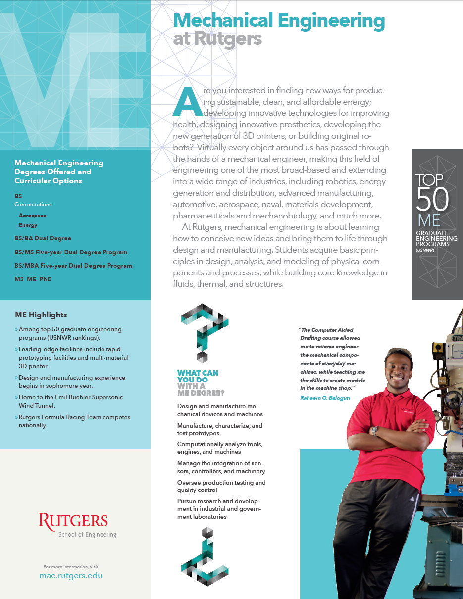 Mechanical And Aerospace Engineering Undergraduate Program Rutgers University Mechanical And Aerospace Engineering